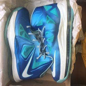 Nike Lebron 10 Blue Diamond- Boys 6Y